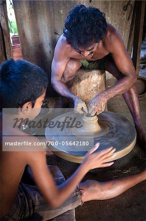 Potter at Potter's Wheel, Yatala, Sri Lanka
