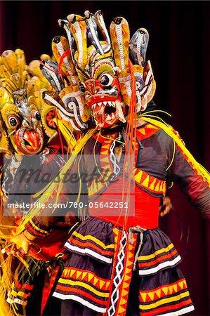 Masked Dancer at Sri Lankan Cultural Dance Performance, Kandy, Sri Lanka