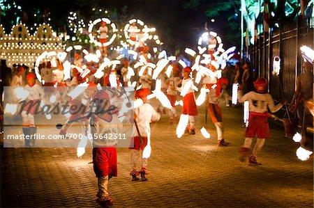 Fire Ball Dancers, Esala Perahera Festival, Kandy, Sri Lanka