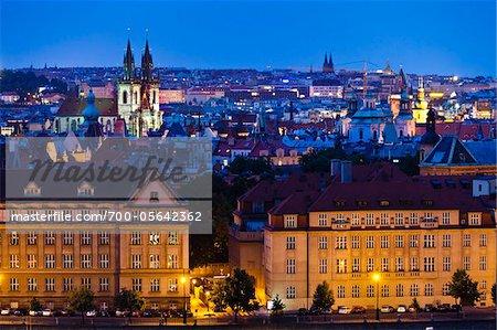 Night Skyline, Prague, Czech Republic