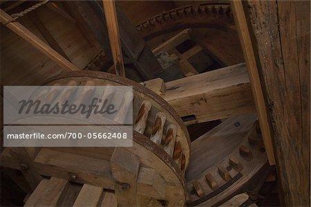 Interior of Windmill, Kortgene, Zeeland, Netherlands