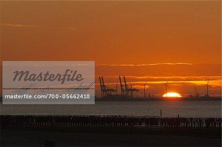 Harbour of Zeebrugge at Sunset, Belgium