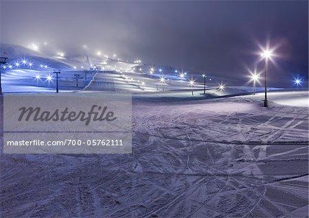 Mt. Hlidarfjall Ski Resort, Eyjafjordur, Iceland