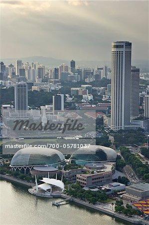 Esplanade Theater Singapore and City, Singapore