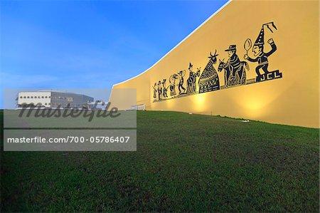 Mural, Cavalo Marinho, by Jose Costa Leite at Science, Culture and Art Station, Joao Pessoa, Paraiba, Brazil