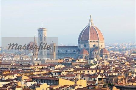 City Skyline with Basilica di Santa Maria del Fiore, Florence, Firenze Province, Italy