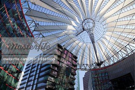 Sony Center Atrium, Potsdamer Platz, Berlin, Germany