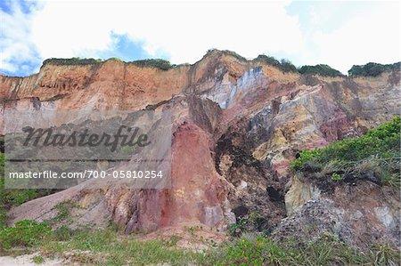 Cliffs Facing Beach, Praia de Tabatinga, Paraiba, Brazil