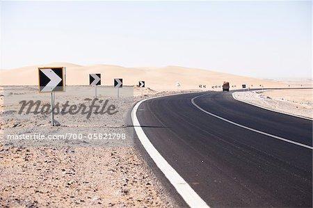 Road, Al Qasr, Dakhla Oasis, Libyan Desert, Egypt