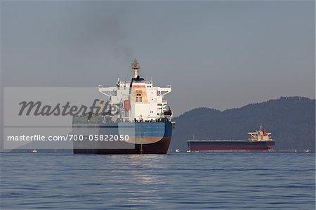 Ocean Freighter, Vancouver, British Columbia, Canada