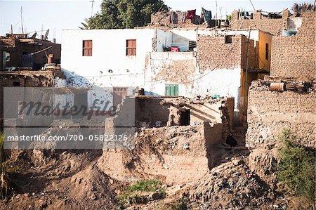 Buildings alongside Nile River, Egypt