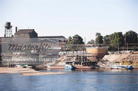 Factory, Nile River, Egypt