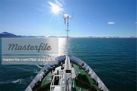 Expedition Vessel at Sea, Svalbard, Spitsbergen, Norway