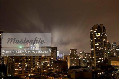 Storm Clouds over City, Toronto, Ontario, Canada