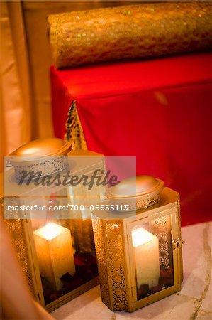 Close-Up of Candle Lanterns