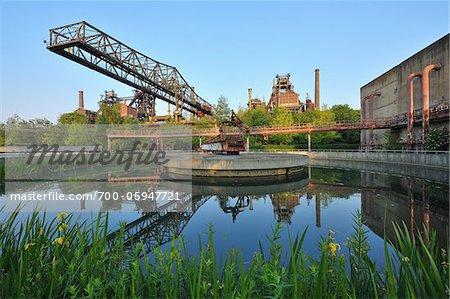 Landschaftspark Duisburg Nord, Meiderich Huette, Duisburg, Ruhr Basin, North Rhine-Westphalia, Germany