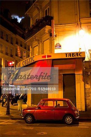 Car Parked on Street, Paris, France