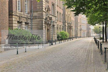Street in Old Town, Dusseldorf, North Rhine Westphalia, Germany