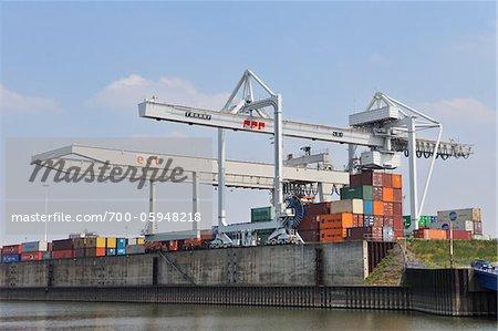 Harbour, Duisburg, North Rhine Westphalia, Germany