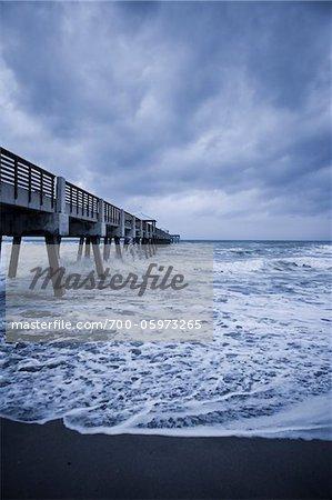 Hurricane Irene, Juno Beach, Florida, USA