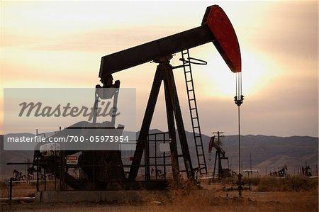 Oil Pump Jacks in Field