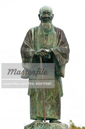 Statue of Mr. Shigechiyo Izumi, the Oldest Person To Have Lived, Isen, Tokunoshima Island, Kagoshima Prefecture, Japan