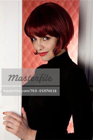 Portrait of Woman in Doorway