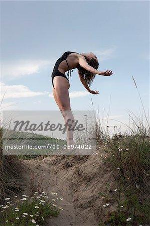 Dancer on Sand Dune