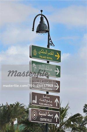 Street Signs, Marrakech, Morocco