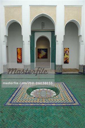 Interior of Ben Youssef Madrasa, Marrakech, Morocco