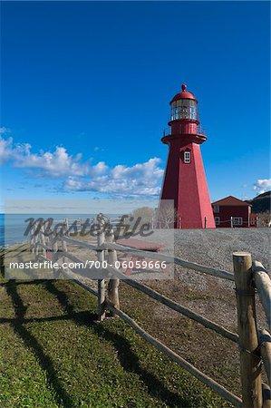 La Martre Lighthouse, Gaspesie, Quebec, Canada