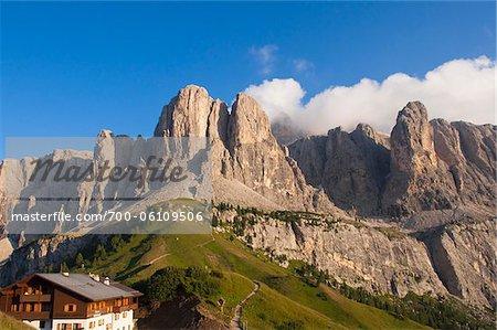 Passo Gardena and Sella Group, Val Gardena, South Tyrol, Trentino Alto Adige, Italy