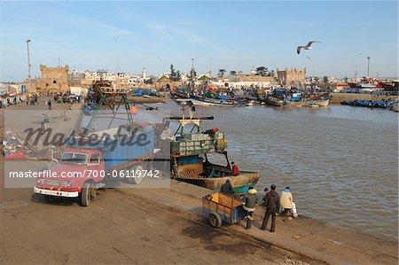 Harbor with Fishing Boats, Essaouira, Morocco