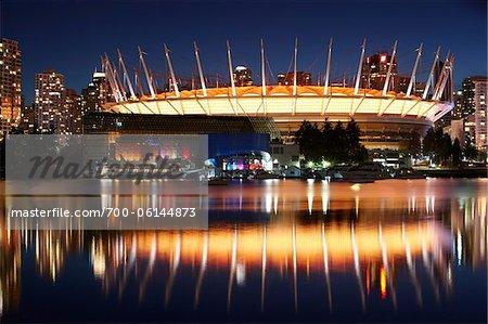 BC Place Stadium at Night, Vancouver, British Columbia, Canada