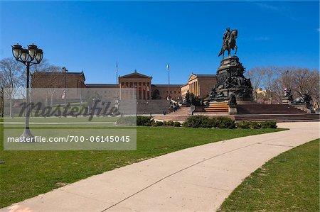 Washington Statue at Eakins Oval, Philadelphia, Pennsylvania, USA