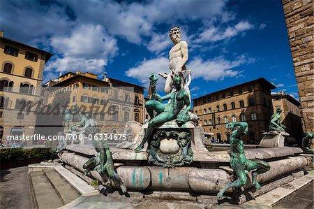 Fountain of Neptune, Piazza della Signoria, Florence, Tuscany, Italy