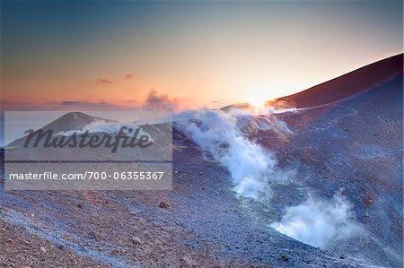 Gran Cratere at Sunrise, Vulcano Island, Aeolian Islands, Italy