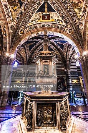 Baptistry of Siena Cathedral, Siena, Tuscany, Italy