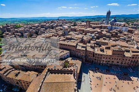 Overview of City, Siena, Tuscany, Italy