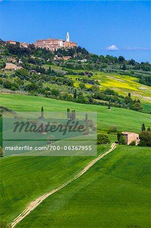 Pienza, Province of Siena, Val d'Orcia, Tuscany, Italy