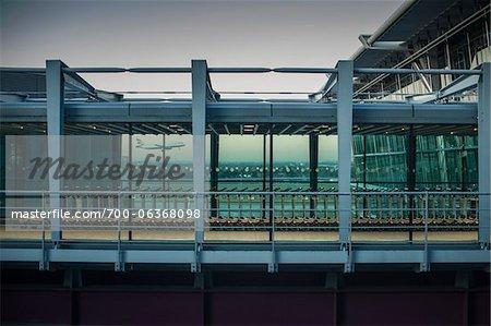 Walkway at Terminal 5, Heathrow Airport, London, England