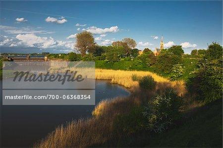 Lake and City Wall, Veere, Zeeland, Holland