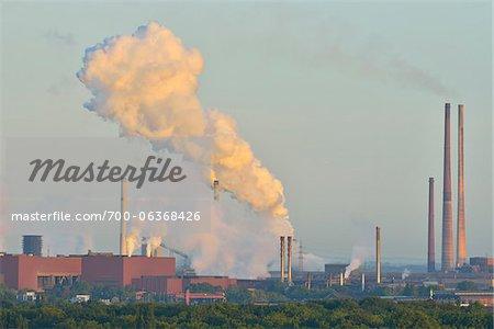 Steel Mill, Duisburg, Ruhr Basin, North Rhine-Westphalia, Germany