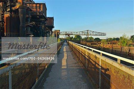 Landschaftspark Duisburg-Nord, Meiderich Huette, Duisburg, Ruhr Basin, North Rhine-Westphalia, Germany
