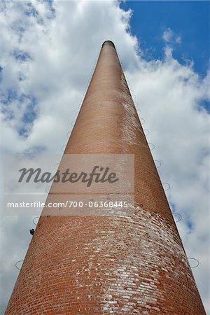 Chimney Kokerei, Zeche Zollverein, Essen, Ruhr Basin, North Rhine-Westphalia, Germany