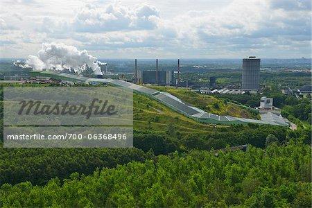 View from Tetraeder, Halde, Bottrop, Ruhr Basin, North Rhine-Westphalia, Germany