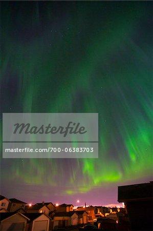 Northern Lights, Beaumont, Alberta, Canada