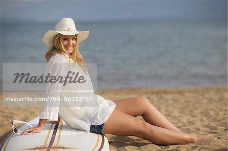 Portrait of Teenage Girl on Beach