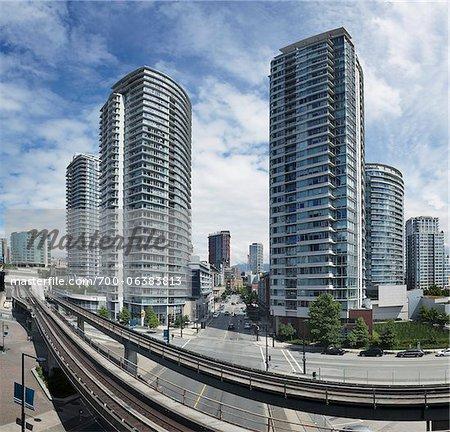 Skytrain Tracks, Vancouver, British Columbia, Canada