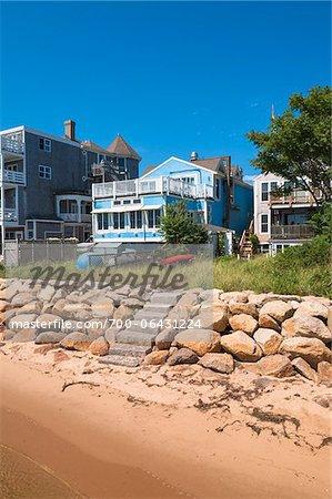 Beachfront Homes, Provincetown, Cape Cod, Massachusetts, USA